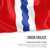 Russian state Omsk Oblast flag. Stock Photography