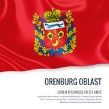 Russian state Orenburg Oblast flag. Stock Photo