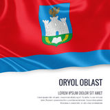 Russian state Oryol Oblast flag. Stock Image