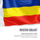 Russian state Rostov Oblast flag. Royalty Free Stock Photos