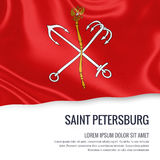 Russian state Saint Petersburg flag. Royalty Free Stock Images