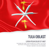 Russian state Tula Oblast flag. Royalty Free Stock Images
