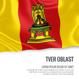Russian state Tver Oblast flag. Stock Images