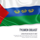 Russian state Tyumen Oblast flag. Royalty Free Stock Images