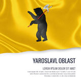 Russian state Yaroslavl Oblast flag. Royalty Free Stock Photo