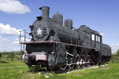 Russian steam locomotive from the early 20th century Royalty Free Stock Photography