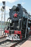 Russian steam train Royalty Free Stock Photo