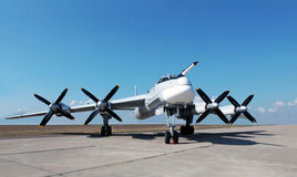 Russian strategic bomber Tu-95 Stock Images
