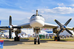 Russian strategic bomber Tupolev Tu-95 Stock Images