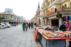 Russian street and architecture in Dalian,China Royalty Free Stock Photo
