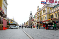 Russian street and architecture in Dalian,China Royalty Free Stock Image
