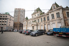 Russian street in the Dalian, China Stock Images