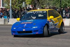 Russian Street Race in Blago Royalty Free Stock Images