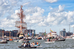 The Russian STS Sedov tall ship Royalty Free Stock Photos