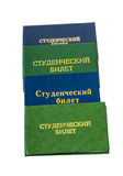 Russian Student certificates Royalty Free Stock Photo
