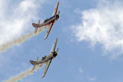 Russian stunt aircraft Stock Photos