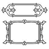 Russian style black ornamental decorative frame Royalty Free Stock Photos