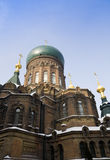Russian style church Stock Photography