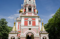 Russian Style Church in Shipka, Bulgaria Royalty Free Stock Photos