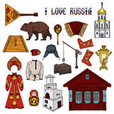 Russian style collection Royalty Free Stock Photo