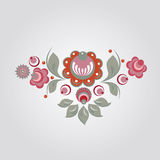 Russian style floral design Stock Photos