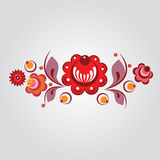 Russian style floral elements Royalty Free Stock Photos