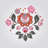 Russian style floral print Royalty Free Stock Photos
