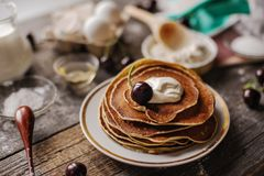 Russian style pancakes Stock Photos
