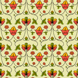 Russian style regular seamless background Royalty Free Stock Photos