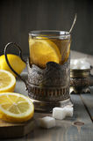 Russian style tea Royalty Free Stock Images