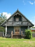 Russian style. Wooden house Royalty Free Stock Image