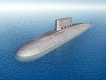 Russian Submarine. Computer generated 3D illustration with a Russian Submarine from the 1980s Stock Photos