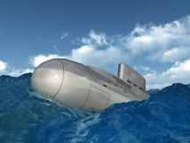 Russian Submarine Royalty Free Stock Photos