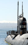Russian Submarine. Sitting At Anchor Stock Images