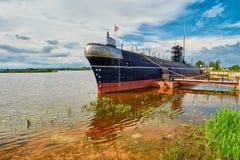 Russian Submarine B-440 in Vytegra Museum Stock Photo