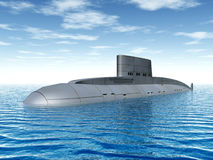 Russian Submarine. Computer generated 3D illustration with a Russian Submarine from the 1980s Royalty Free Stock Photography