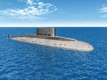 Russian Submarine Royalty Free Stock Images