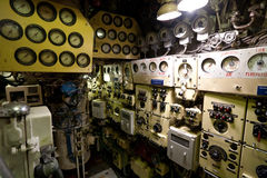Russian submarine interior Stock Photos