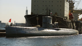 Russian submarine. Royalty Free Stock Images