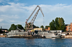 Russian submarines Royalty Free Stock Photography
