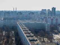 Russian suburb. Aerial view of a Russian suburb Stock Images