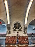 A historic subway station in Russia stock photos