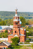 Russian summer landscape with church Stock Photography
