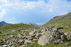 Russian summer mountain landscape in the Caucasus biosphere reserve. Russian summer mountain landscape in Caucasus biosphere reserve stock photography