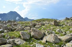 Russian summer mountain landscape in the Caucasus biosphere reserve. Russian summer mountain landscape in Caucasus biosphere reserve royalty free stock photography