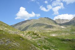 Russian summer mountain landscape in the Caucasus biosphere reserve. Russian summer mountain landscape in Caucasus biosphere reserve royalty free stock photos