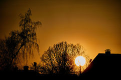 Russian sunset. Stock Photography