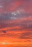 Russian Sunset Sky Stock Photography