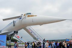Russian supersonic airplane Tupolev Tu-144 Stock Photos