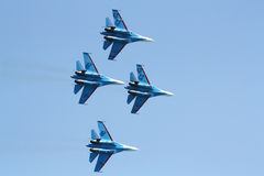 Russian supersonic fighters Su-27 Royalty Free Stock Photography